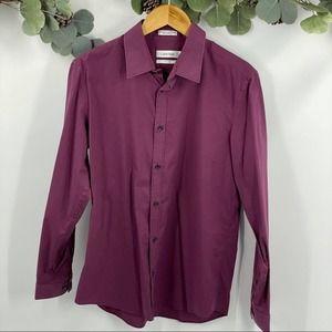 Calvin Klein | Non Iron, Burgundy Dress Shirt, M